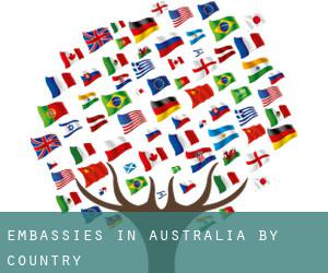 Embassies in Australia by Country