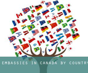 Embassies in Canada by Country